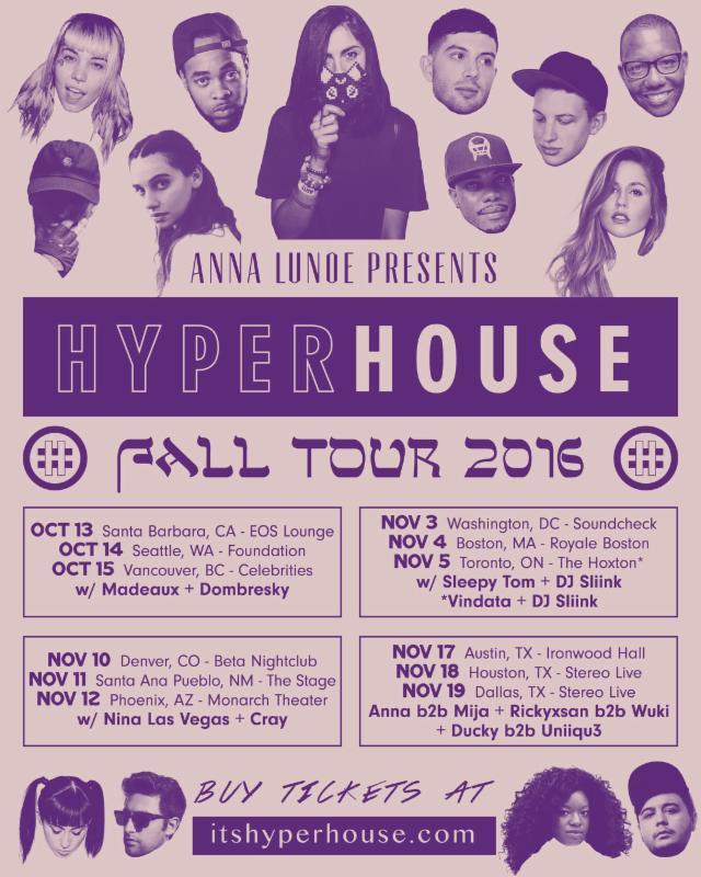 Hyperhouse Tour Dates