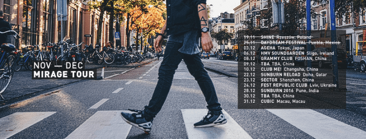 Tom Swoon Tour Dates