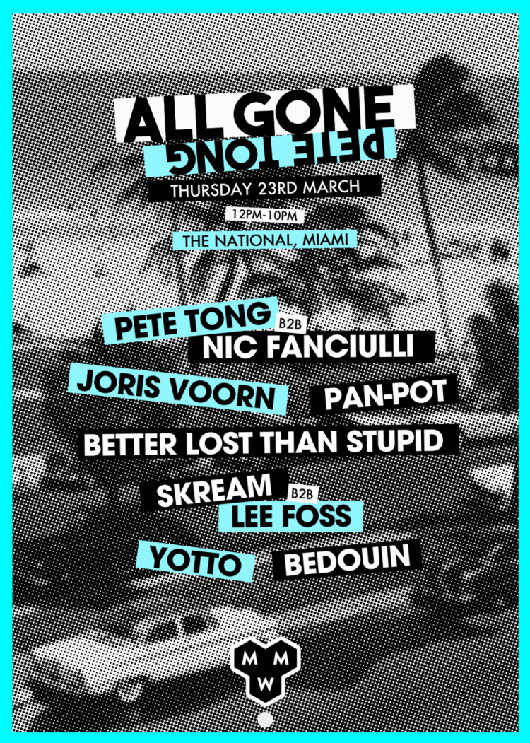 All Gone Pete Tong Pool Party Flyer