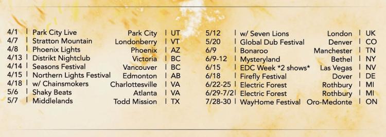 Illenium Dates