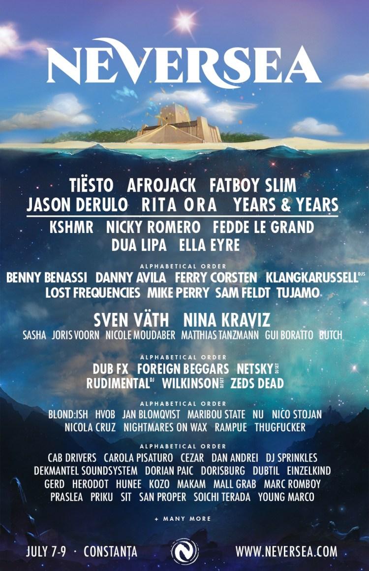 Neversea Festival 2017 Flier