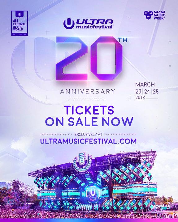 Ultra Music Festival 2018 Flyer