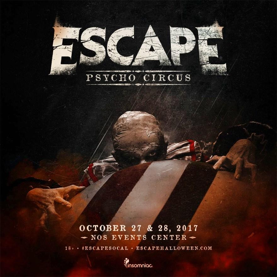 Escape Psycho Circus 2017 Flier