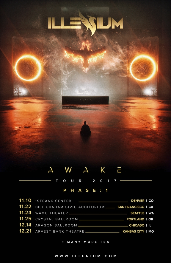 Illenium Awake Tour Flier