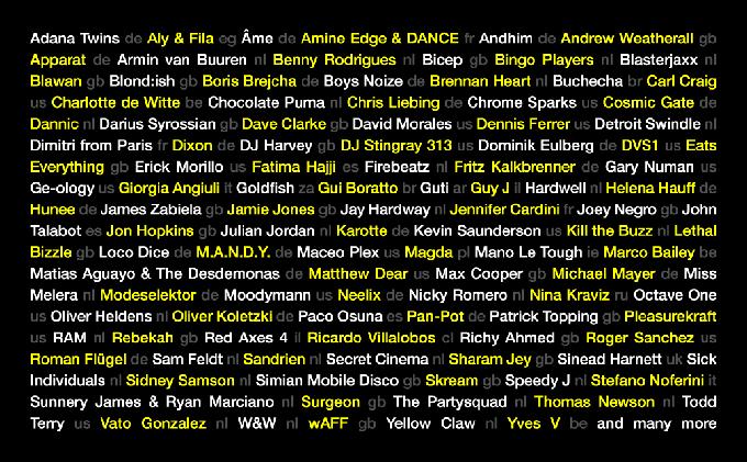 ADE 2017 Full Lineup