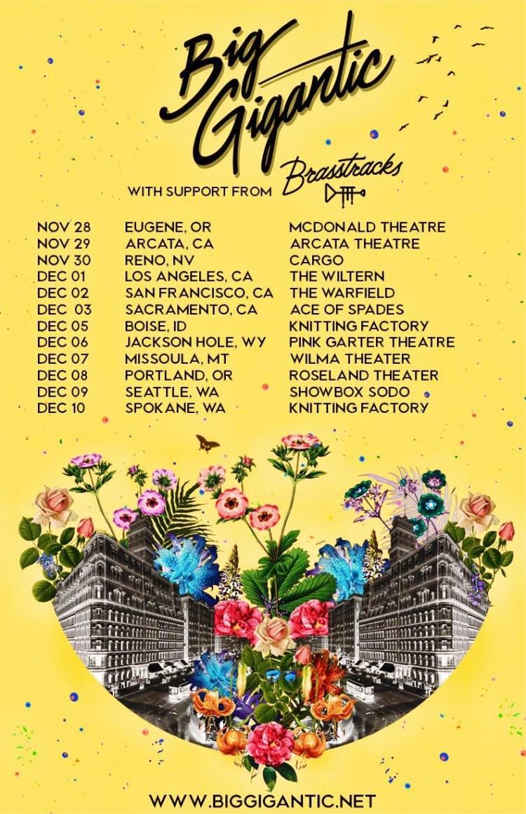 Big Gigantic West Coast 2017 Tour Flyer
