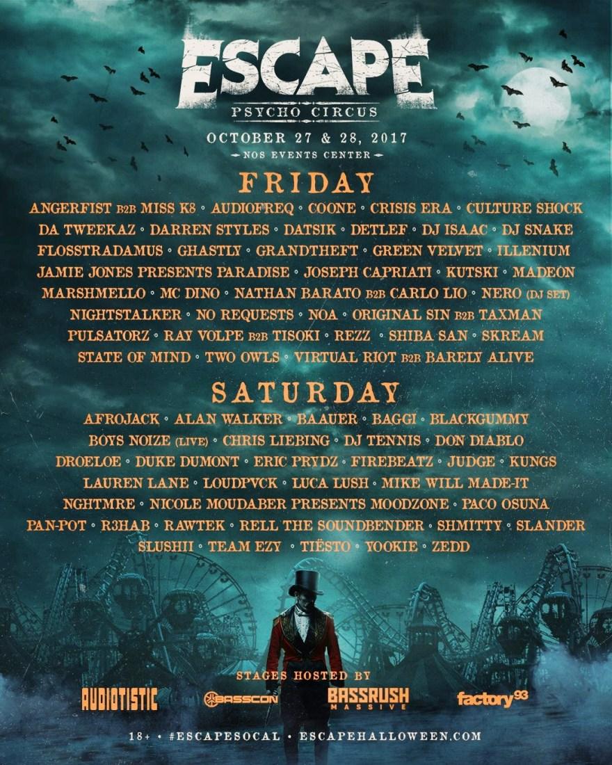 Escape 2017 Flyer