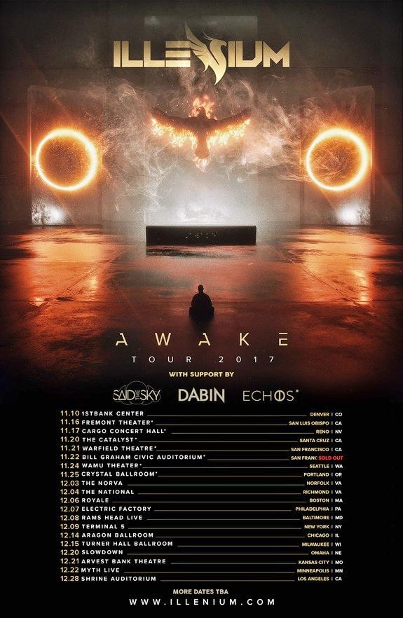 Illenium Awake 2017 Tour