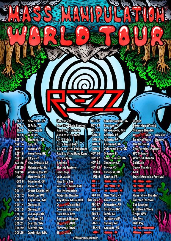 Rezz Mass Manipulation Tour 2017 Flier