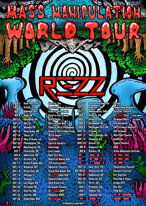 Rezz Mass Manipulation Tour 2017 Flier