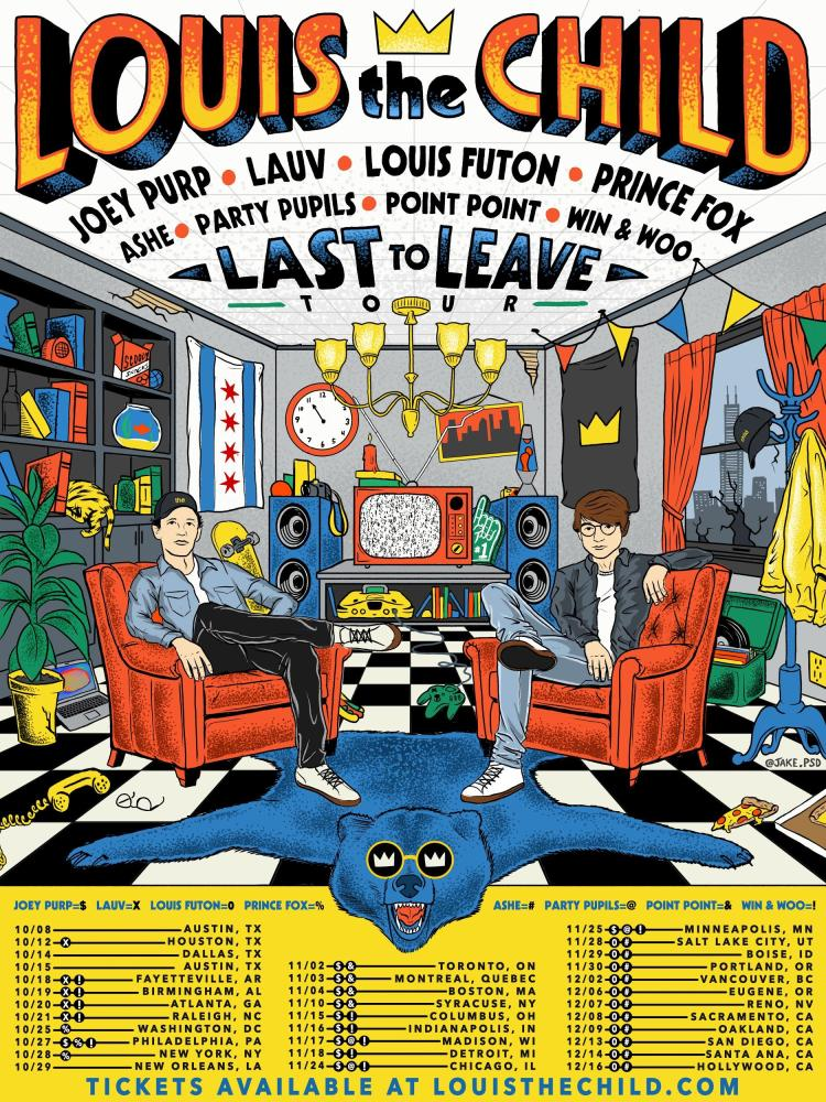 Louis The Child 2017 Tour Flyer
