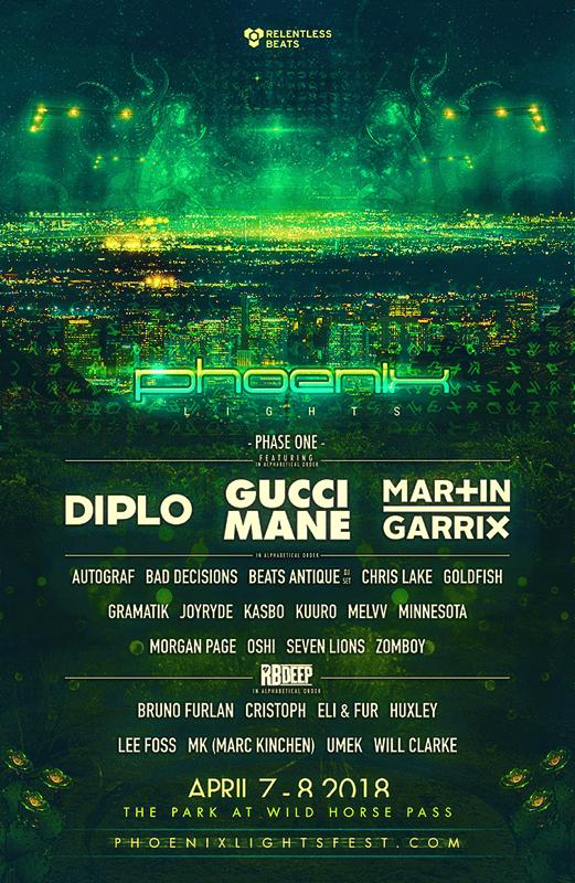Phoenix Lights 2018 Lineup Flyer
