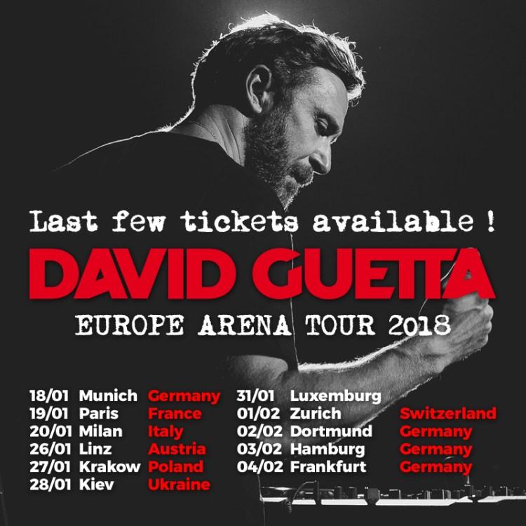 David Guetta 2018 Flyer