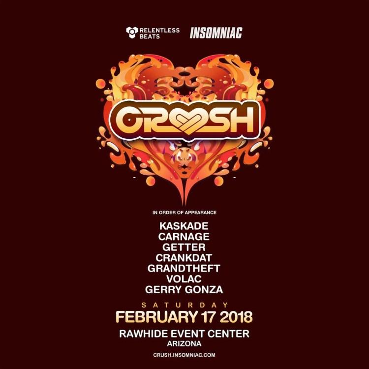 Crush Festival 2018 Flyer