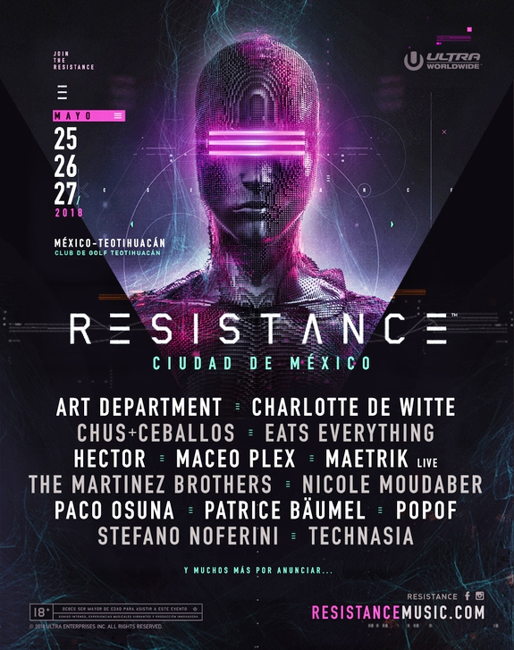 Resistance Mexico 2018 Flyer