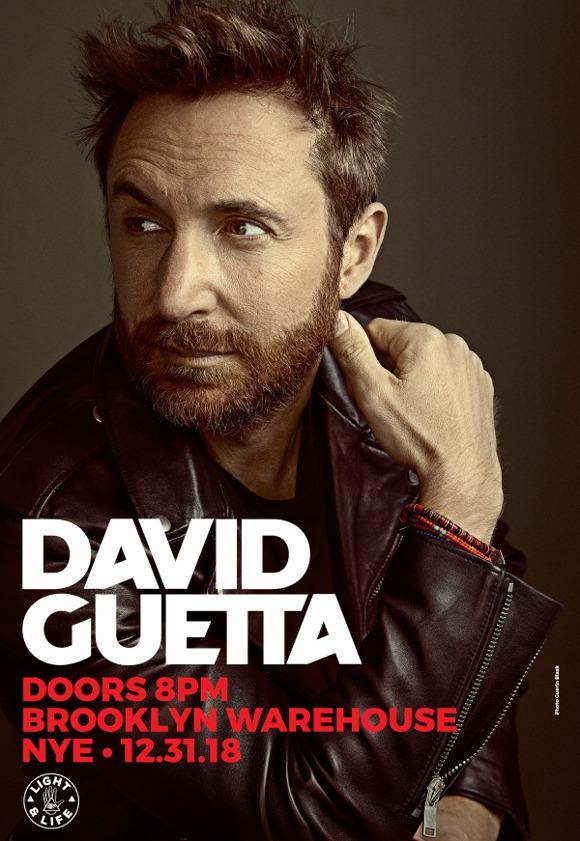 David Guetta NYE 2018 Flyer