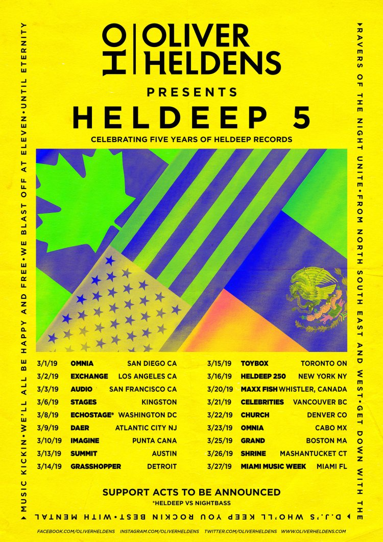 Oliver Heldens Heldeep Tour Flyer