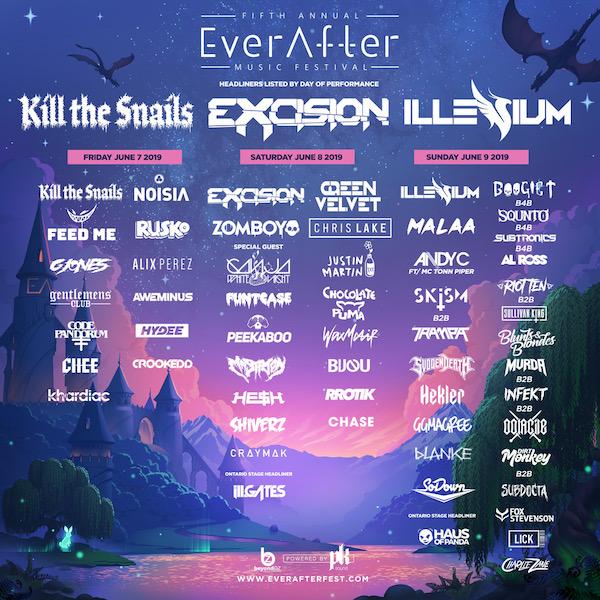Ever After Music Festival 2019 Flyer