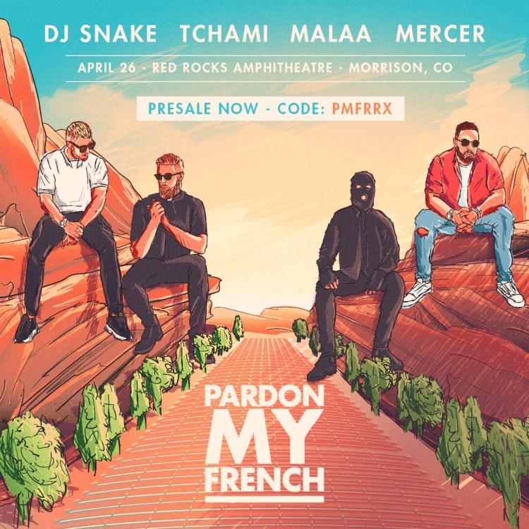 Pardon My French Red Rocks 2019 Flyer