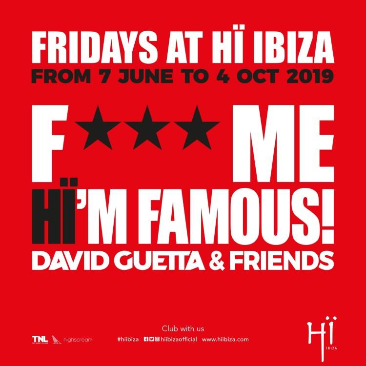 David Guetta & Friends Ibiza 2019 Flyer
