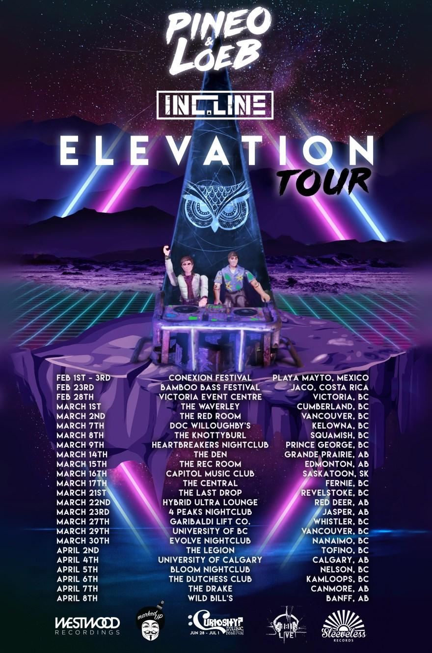 PINEO & LOEB Elevation Tour 2019 Flyer