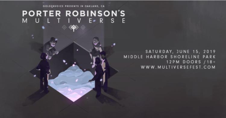 Porter Robinson Multiverse 2019 Flyer
