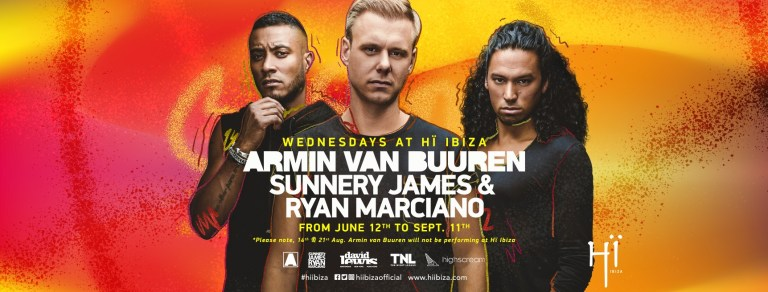Armin van Buuren & Sunnery James & Ryan Marciano 2019 Flyer
