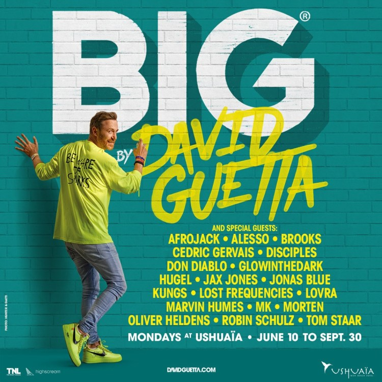Big By David Guetta 2019 Ushuaia Ibiza Lineup