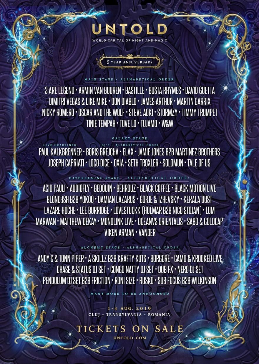 Untold Music Festival 2019 Flyer