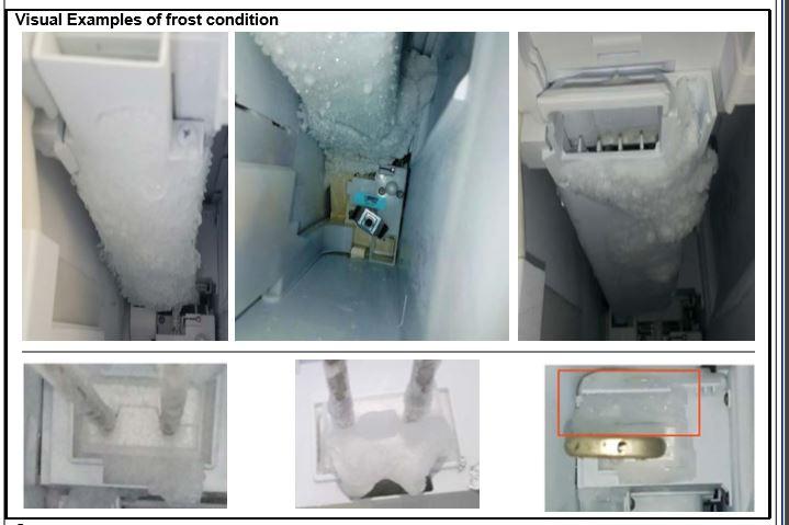 samsung ice maker freezing up