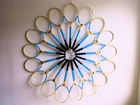 Rackets Sculpture 2003