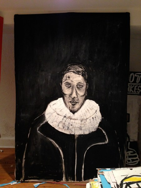 El Greco, Painting by Edmond van der Bijl, acrylic on canvas, 4'x6'