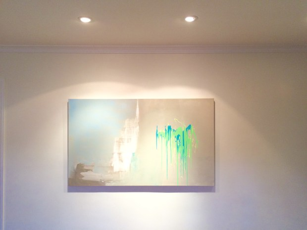 Edmond van der Bijl 5x3 custom commision painting Abstract Contemporary UNtitled