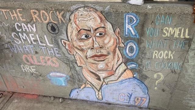Chalk art in Devon