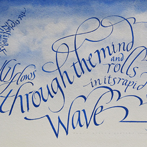 "Calligraphers Do It With a ""Flourish""!"