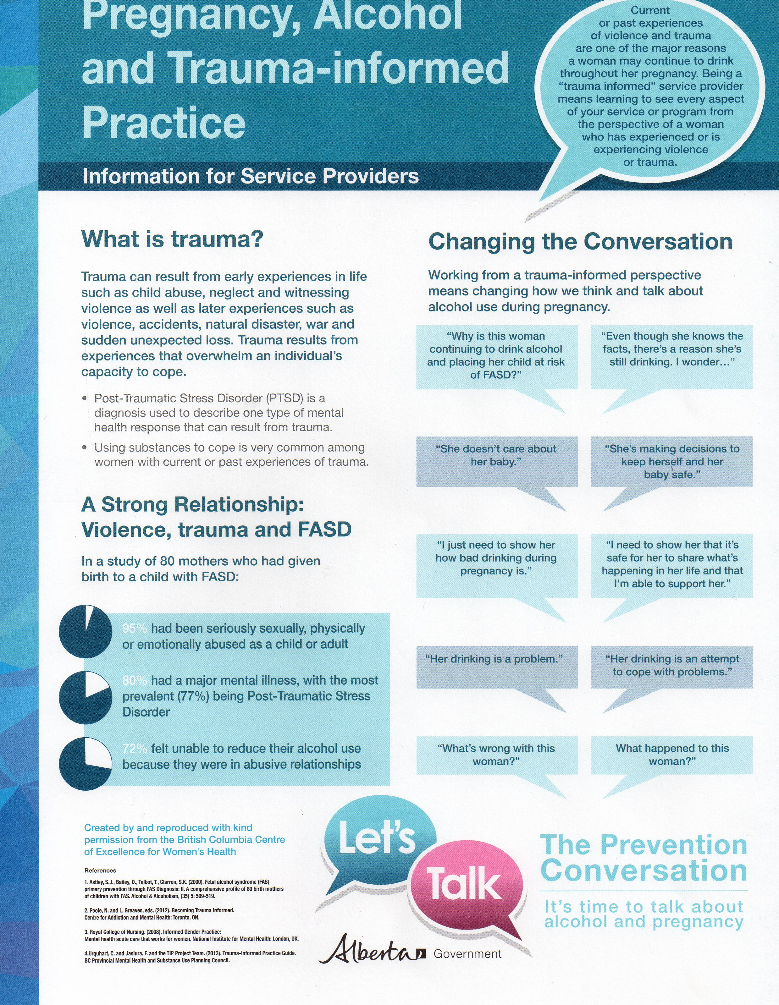 Pregnancy, Alcohol and Trauma-informed Practice