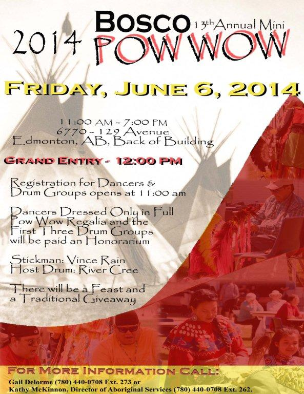 Pow Wow Poster Letter 2014 8 x 11