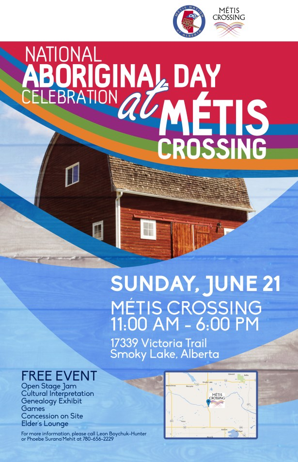 AboriginalDay_Métis CrossingPoster