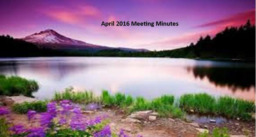 April 2016 Meeting Minutes