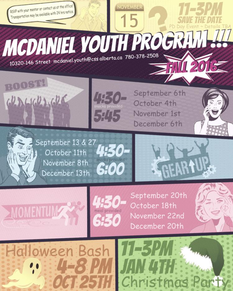 MYP Fall 2016 Calendar