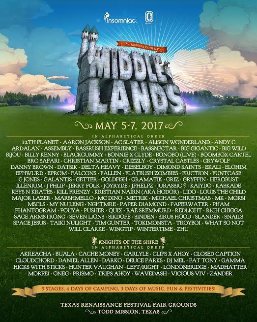 Middlelands-Lineup Middlelands anuncia su espectacular lineup de inauguración