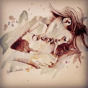 Upsidedown kiss brown 2