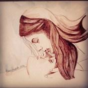 Upsidedown kiss brown