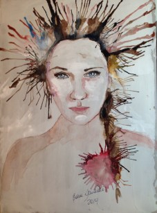 Watercolor, ink, Acrylic dough in paperboard, 29,7x42 cm Price: BRL$ 1.000,00