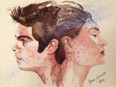 """Watercolor in Fabriano Acquarello, 100% cotton, 300 g/m2 (140 lbs), 23 x 30,5 cm (9"""" x 12"""") sold"""