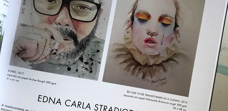 Crítica de arte por Márcio Scheel sobre Edna Carla Stradioto