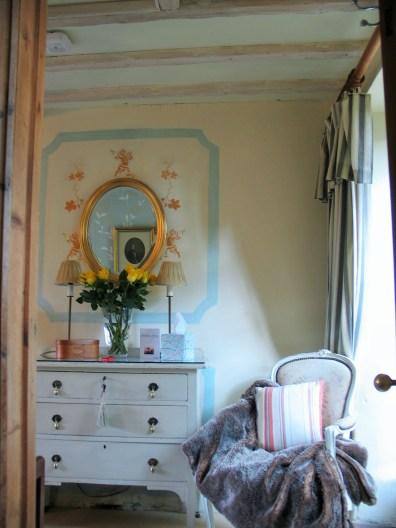 Apricot bedroom a double en suite at Ednovean Farm