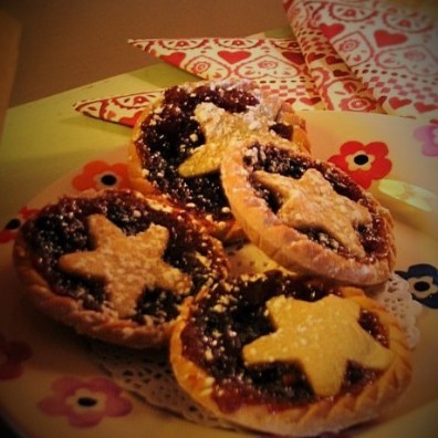 Mince pies for afternoon tea at Ednovean Farm