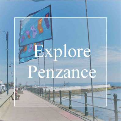 Explore Penzance promenade and flags