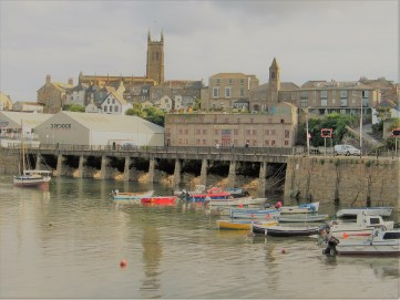 Penzance harbour with the Ross Bridge